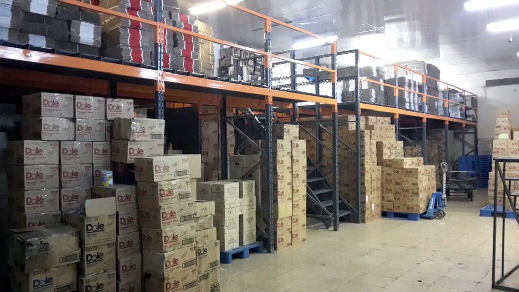 پروژه قفسه نیم طبقه شرکت مروارید سیاه 01