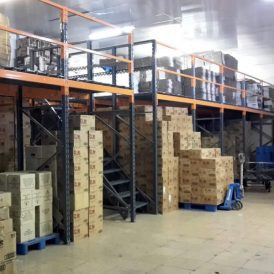 پروژه قفسه نیم طبقه شرکت مروارید سیاه