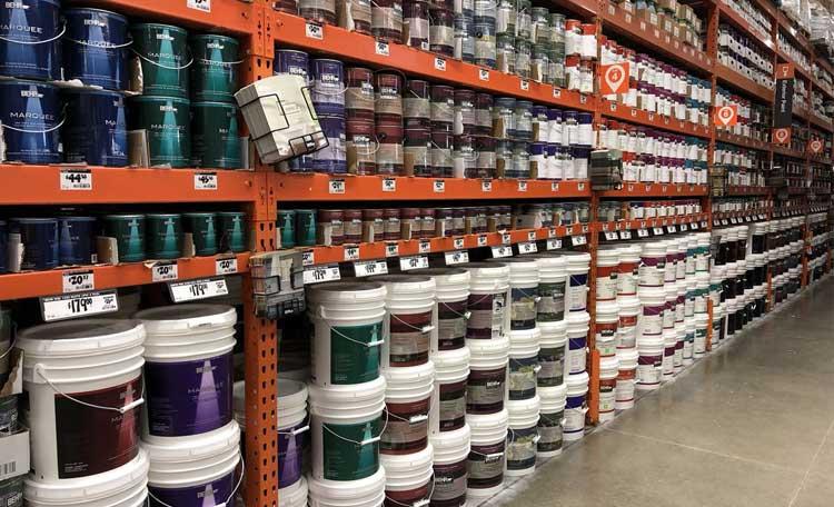 اصول چیدمان قفسه فروشگاه رنگ و ابزار